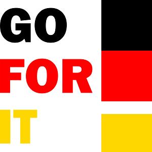 Dieses BALLacker-dÜsign von Thorsten Hülsberg zeigt in den deutschen Nationalfarben: GO FOR IT!