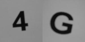 Diese Bild von Thorsten Hülsberg zeigt in schwarzweiß die Ziffer 4 und den Buchstaben G.