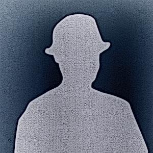 Dieses Bild von Thorsten Hülsberg zeigt in dunklen Farbtönen im Stil eines Comics einen Schattenmann.