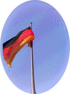 Dieses Bild von Thorsten Hülsberg zeigt eine Deutschlandfahne mit einem besonderen Lupeneffekt.