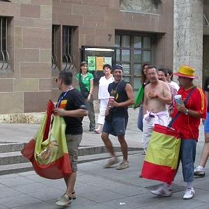 Dieses Foto von Thorsten Hülsberg zeigt, wie spanische Fußballstimmung in Stuttgart noch vor einigen Jahren aussah.