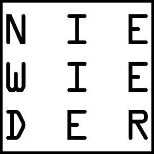 Dieses Bild von Thorsten Hülsberg zeigt das zweiteA4E-dÜsign aus der Reihe WORTKunstwort auf weißem Grund schwarzgerahmt.