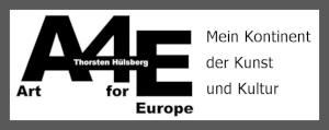 Banner mit dem Art for Europe-Logo und dem Schriftzug: Mein Kontinent der Kunst und Kultur.