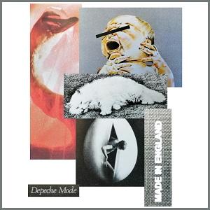 Dieses Bild aus verschiedenen Ausschnittsfotografien von Thorsten Hülsberg zeigt eine Collage verschiedenster Cover von Depeche Mode aus den Anfangsjahren der Band.