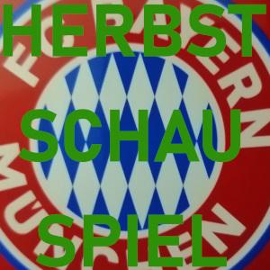 Diese Ausschnittsfotografie von Thorsten Hülsberg zeigt eine Bonbondose im FCB-Stil und trägt in grün die Aufschrift Herbstschauspiel.