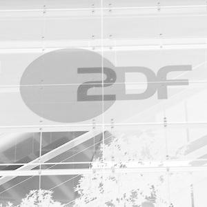 Dieses Bild von Thorsten Hülsberg zeigt eine in Grauzonen überarbeitete Fotografie der Fassade des ZDF in Hamburg.