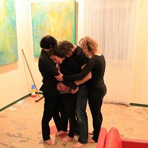Eine Impro-Gruppe beim Auftritt in der damalige artl lounge in Köln Ehrenfeld.
