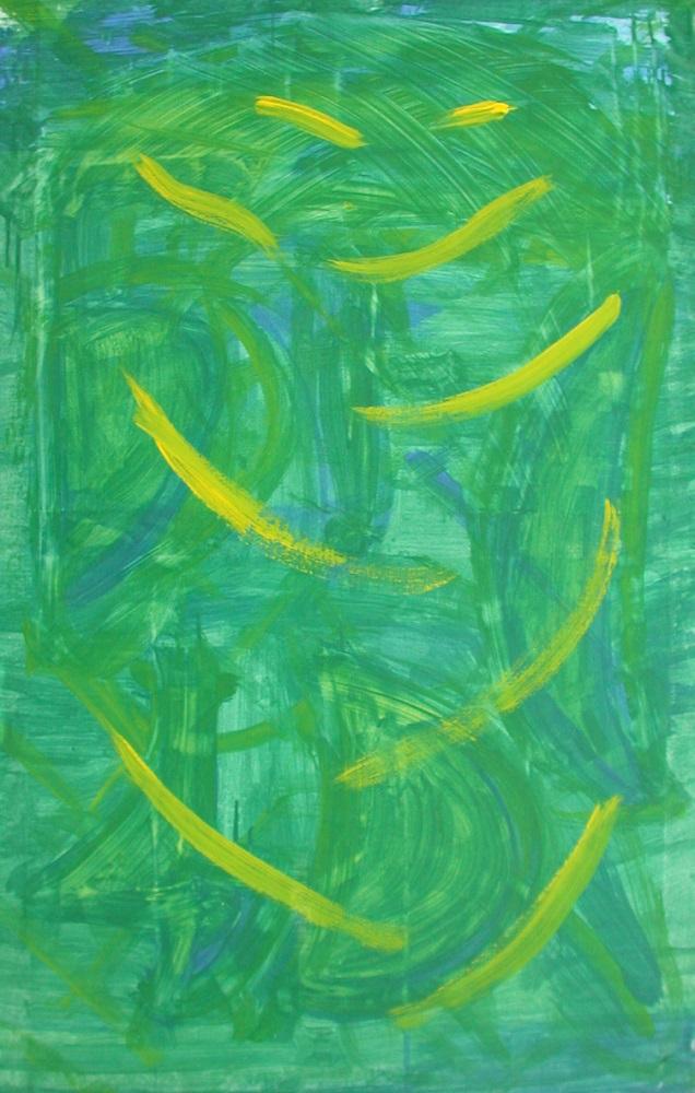 Gelbe Federn im Wind