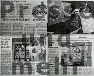 Collage verschiedener Zeitungsartikel über Thorsten Hülsberg mit Presse und mehr-Schriftzug darüber.