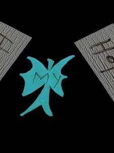 Ein Werk aus der StaR-Reihe zeigt in der Hauptsache einen grellgrünen Engel und das Wort My.