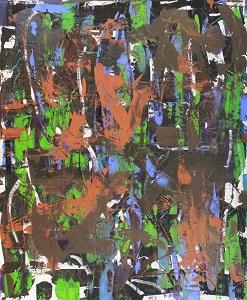 Zeigt das abstrakte Werk Nemo me impune laccessit von Thorsten Hülsberg.