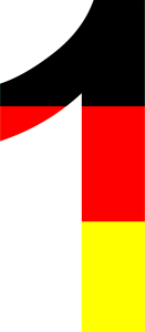 Dieses Bild von Thorsten Hülsberg zeigt eine 1 in den deutschen Nationalfarben.