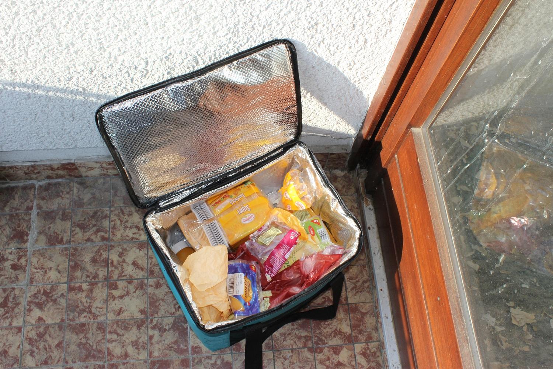 Kühlschrank auf dem Balkon und …