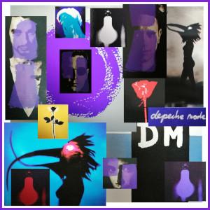 Diese Collage von Thorsten Hülsberg zeigt verschiedene Coverausschnitte von Depeche Mode zwischen 1989 und 1993.