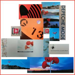 Dieses Bild von Thorsten Hülsberg ist eine Collage verschiedener Coverausschnitte von Depeche Mode aus den Jahren 1987 und 1988.