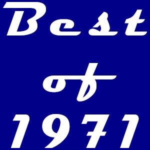 Dieses dÜsign von Thorsten Hülsberg zeigt ganz in weiß gehalten auf blauem Hintergrund: Best of 1971.