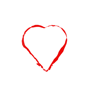 Dieses Bild von Thorsten Hülsberg zeigt ein gedrucktes rotes Herz.