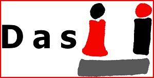 Das Ü-Logo hinter dem Wort Das rot umrandet.