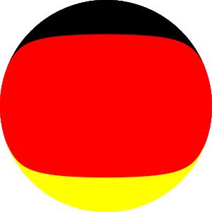 Dieses Bild von Thorsten Hülsberg zeigt einen Ball in den deutschen Nationalfarben.