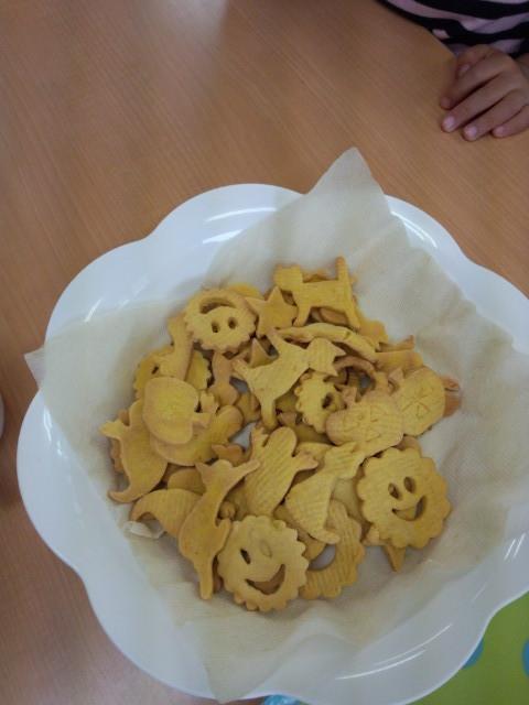 いろんな形のかぼちゃクッキー