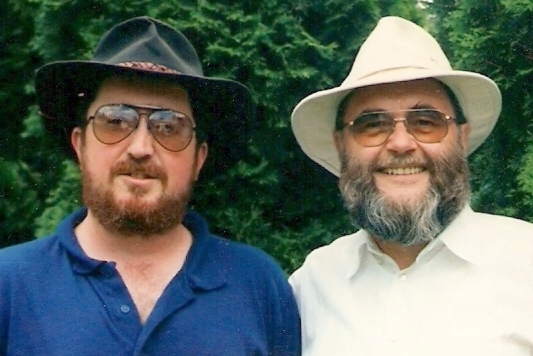 Mit meinem Halbbruder Oliver Schaub aus Kanada (B.C. Sooke) Er ist 16 Jahre jünger.