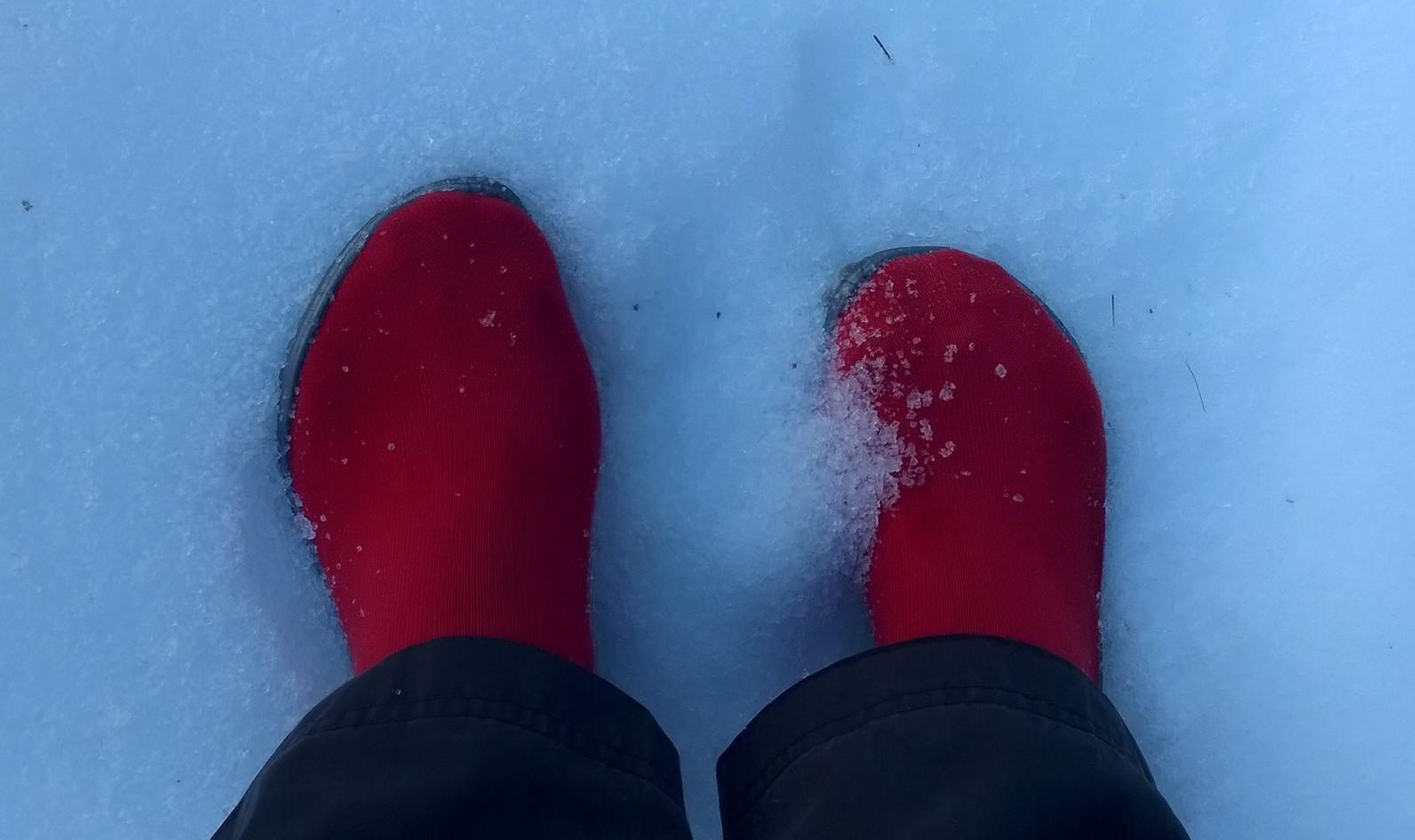 Wandern im Lammertal mit dem leguano® classic rot.