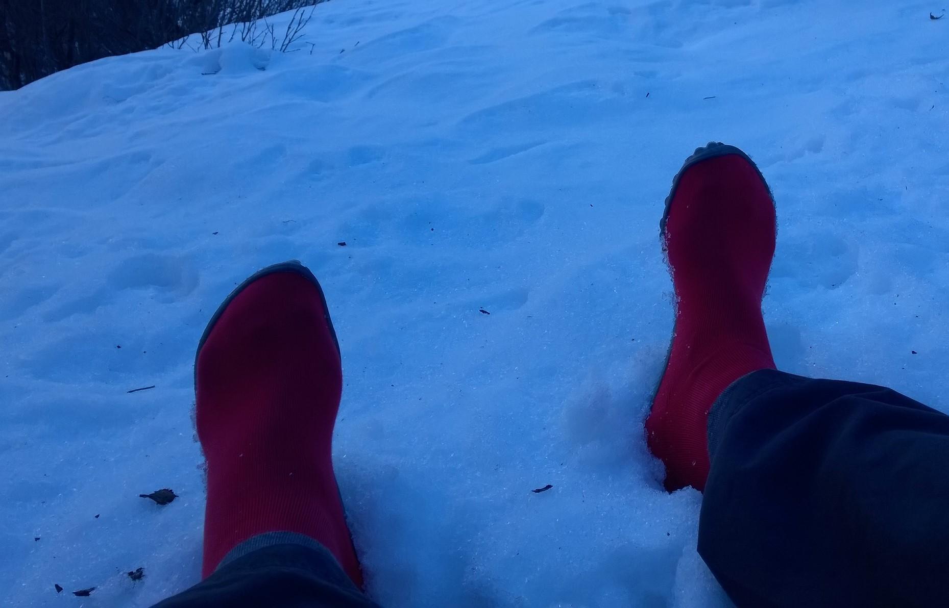 Auf dem Weg zur Ostpreußenhütte mit dem leguano classic rot.