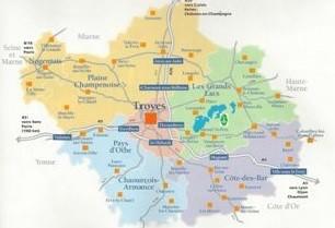 découvrez la carte du département de l'aube en champagne