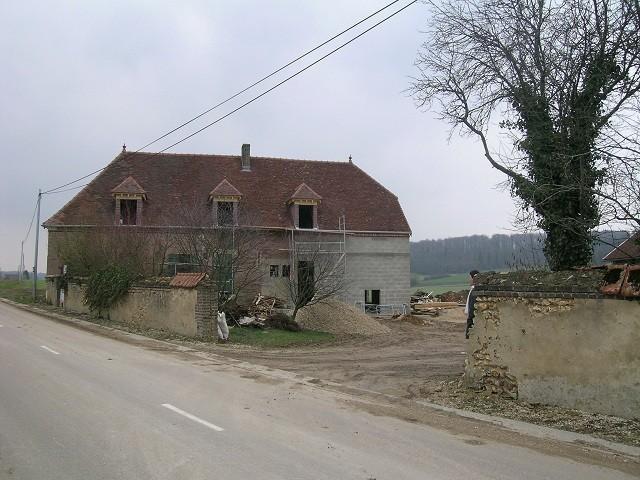 """travaux de rénovation chambre d'hôtes """"Les Furets"""" printemps 2004"""