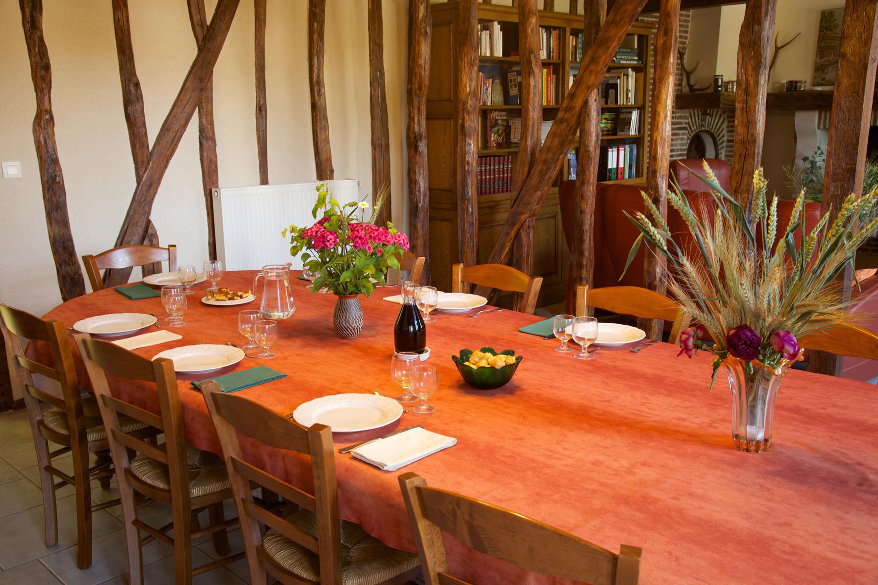 """salle à manger chambre d'hôtes """"Les Furets"""""""