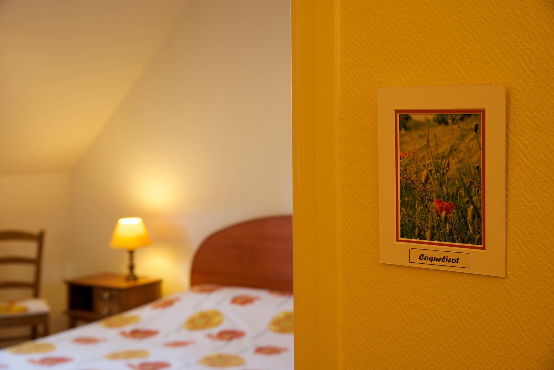"""chambre Coquelicot chambre d'hôtes """"Les Furets"""""""