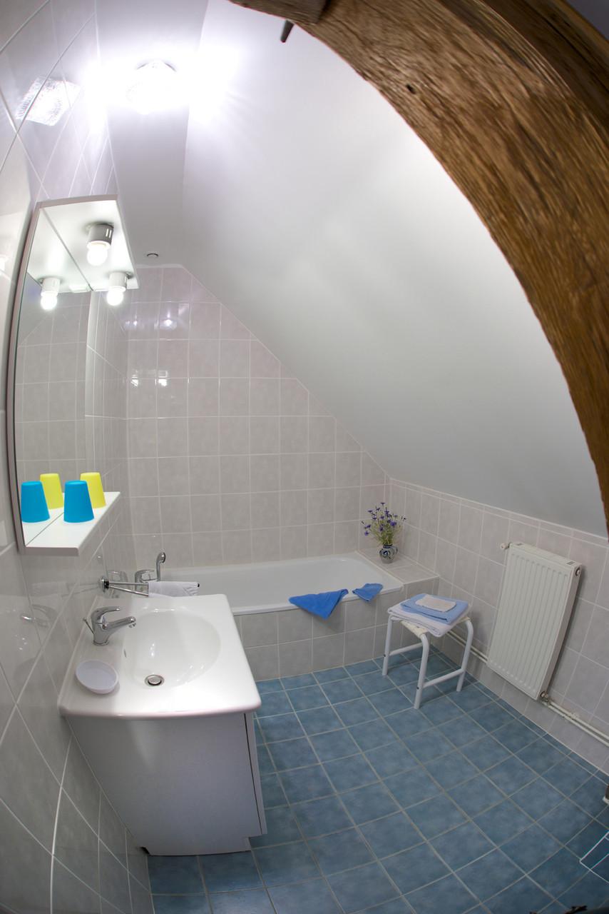 baignoire chambre bleuet