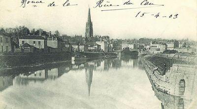 La Vendée à Fontenay-le-Comte au début du XXe siècle... 1903, on aperçoit encore un bâteau dans le fond.
