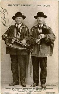 """Un duo mythique, le père malochet et Antonnin RONDIER, dit """"Tonin Pacouret""""."""