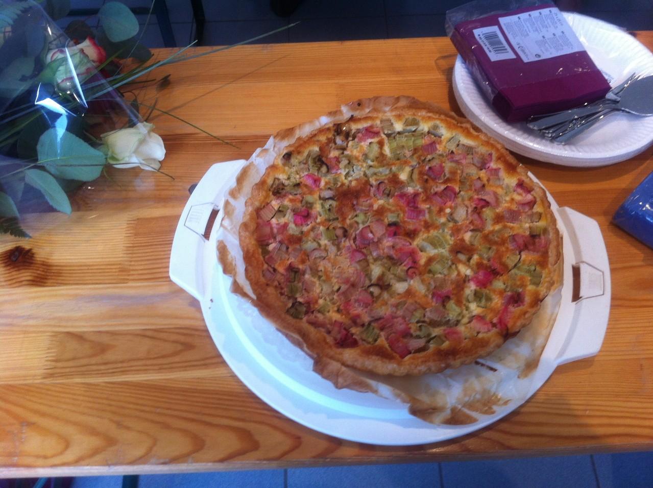 La tarte de Jacqueline humm ! Repas de fin d'année avec le groupe du jeudi