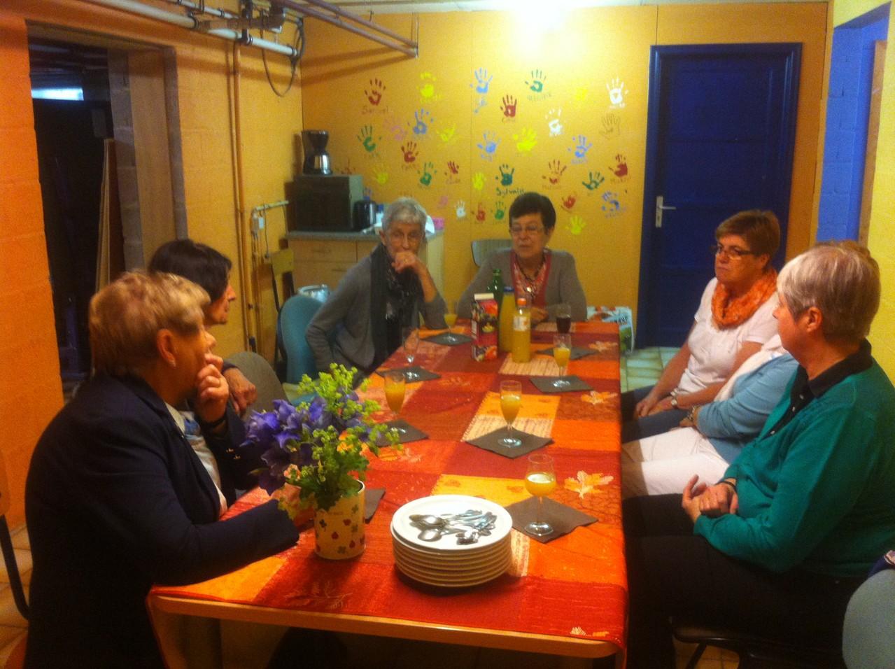 Repas de fin d'année avec le groupe du lundi