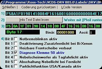 VCDS Zusatzfunktionen codieren