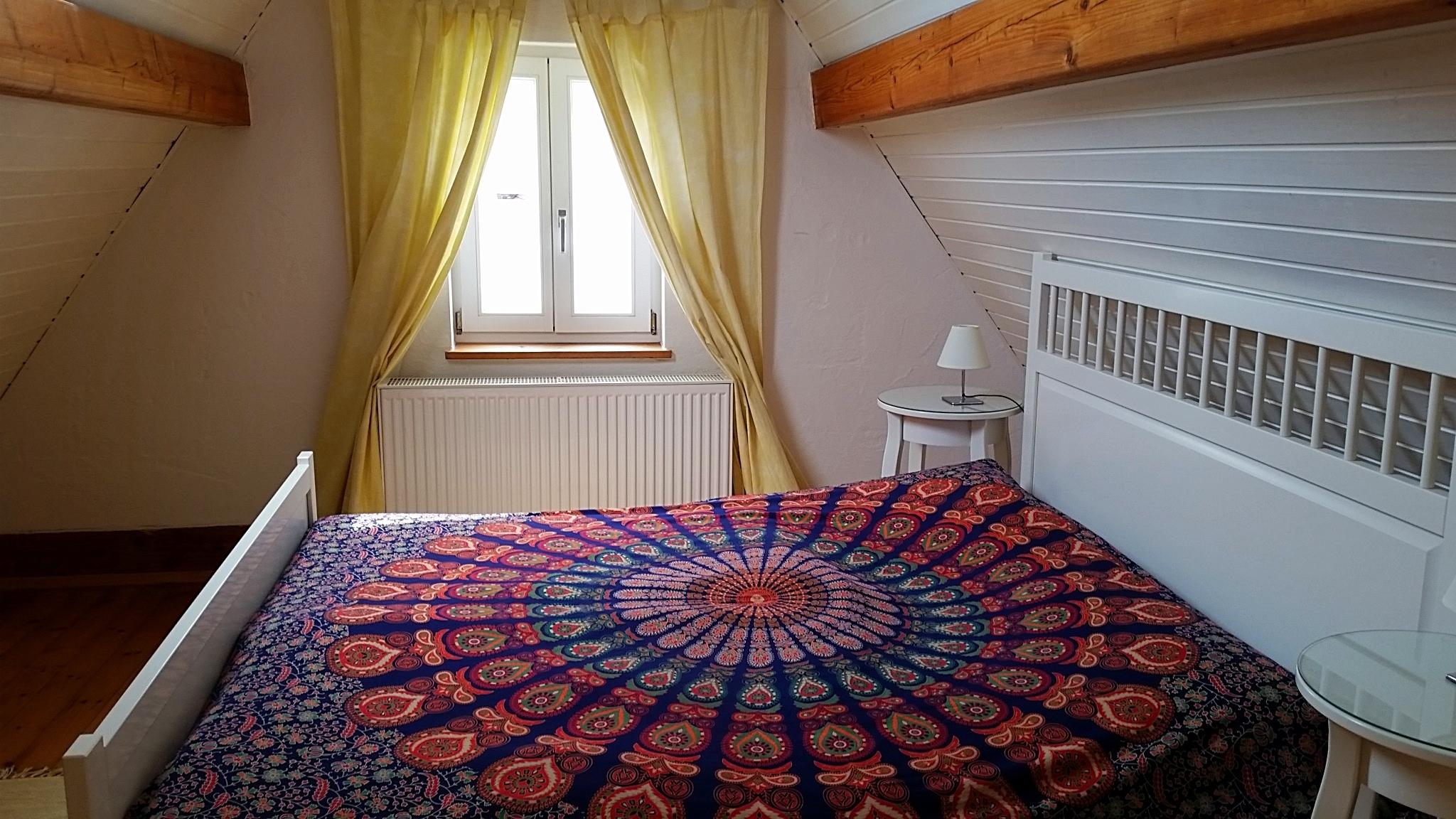 Schlafzimmer Maisonettewohnung Winzerhaus König