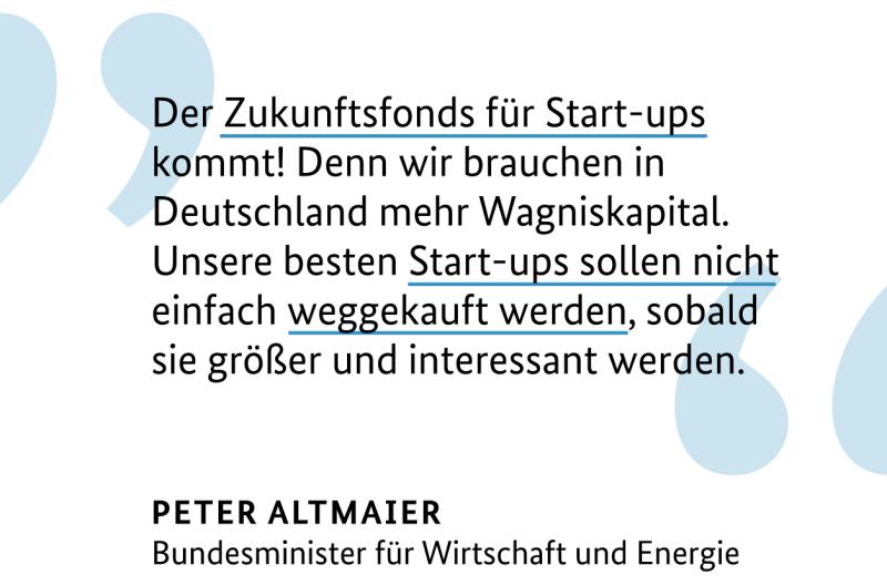 Bundesregierung startet Zukunftsfonds für die Start-up-Finanzierung