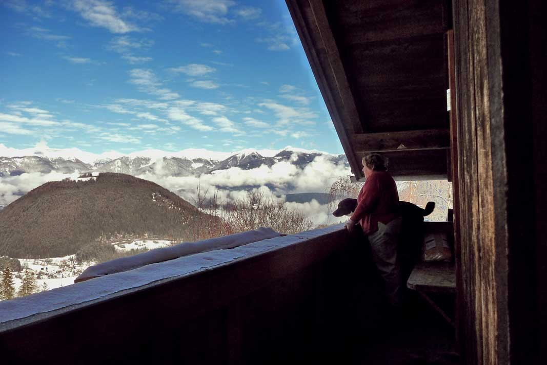 Balkon der Ferienwohnung im Haus mit herlicher weitsicht