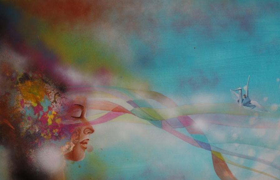 Gedanken IV, 2015, 80 x 60 cm, Acryl auf Leinwand