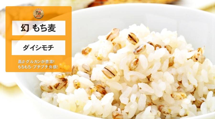 幻もち麦・ダイシモチ(愛媛県東温市産/生産者:牧秀宣さんの幻もち麦)