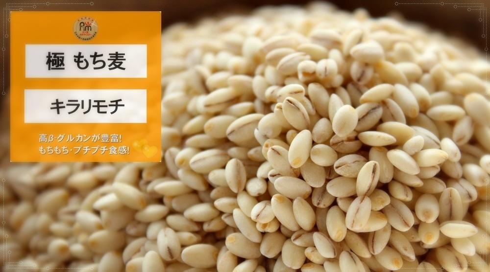 極もち麦・キラリモチ(もち性大麦:二条大麦|大麦-βグルカン)