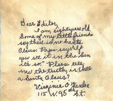 ヴァージニア・オハンロン(8歳)がサン紙に送った手紙