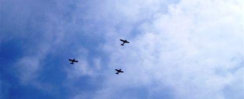 毎年10月25日(午前10時) 西条市上空の光景