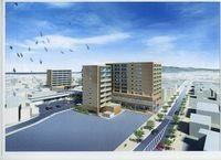 西条市紺屋町再開発 全体イメージ(西側から)