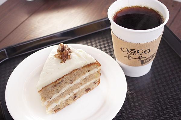 ハミングバードケーキとハンドドリップコーヒー