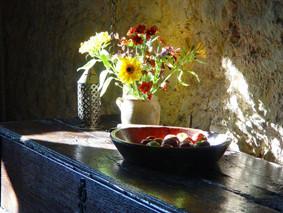 l'automne au château fort médiéval de Tennessus