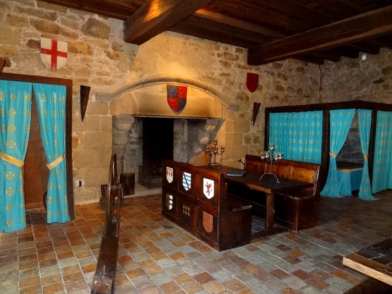 Chambre du Chevalier chateau medievale au chateau