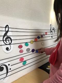パネルシアターで楽しく音符を学びます